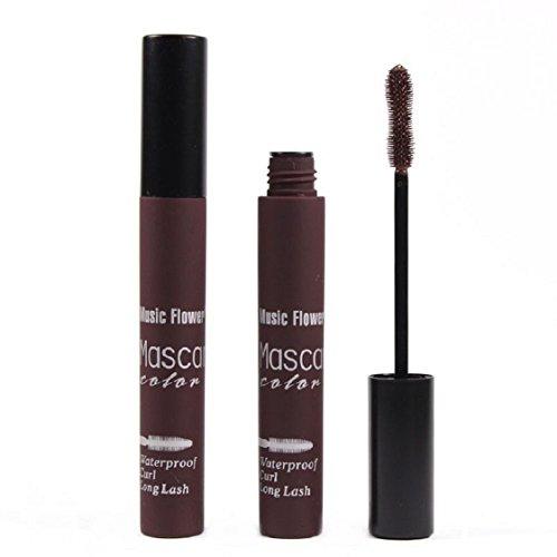 Culater® Imperméable à l'eau de Maquillage des Cils à Long Curling Cils de Mascara Prolongation marron