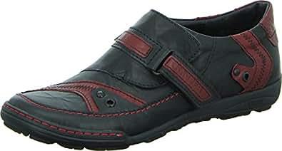 kacper 1 4261 halbschuh herren freizeit slipper echtleder klettverschluss farbe schwarz rot. Black Bedroom Furniture Sets. Home Design Ideas