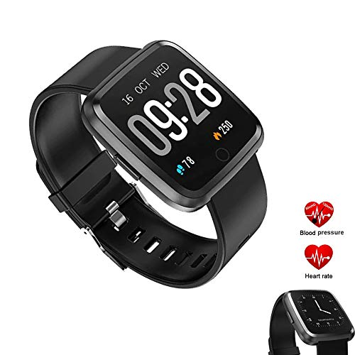 Smartwatch Impermeabile IP67 Orologio Fitness Cardiofrequenzimetro da Polso Fitness Activity Tracker Pedometro, Monitor del Sonno Orologio Sport per Donna Uomo per Telefoni Android e iOS