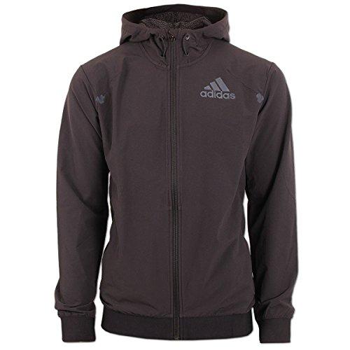 adidas Herren Sweatshirt S3 FZ Hood, Schwarz/Grau, M, 4056562632391 (Fz Hood)