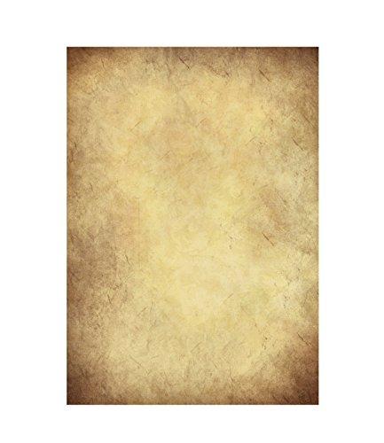 Stück Altes Papier, Vintage DIN A4 bedruckbar – Urkunden Schatzkarten Bastelpapier, Kartonpapier – Bastel für Karten,Hochzeit, Adel Geschenke, Nostalgie