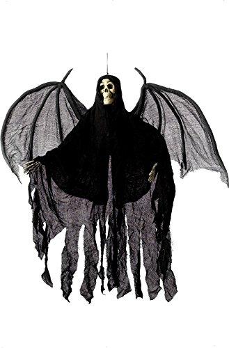 ngel Skelett, Gewand mit Kapuze und Flügeln, 105cm Höhe, Schwarz, 36044 (Schnelle Und Einfache Halloween-ideen Für Erwachsene)