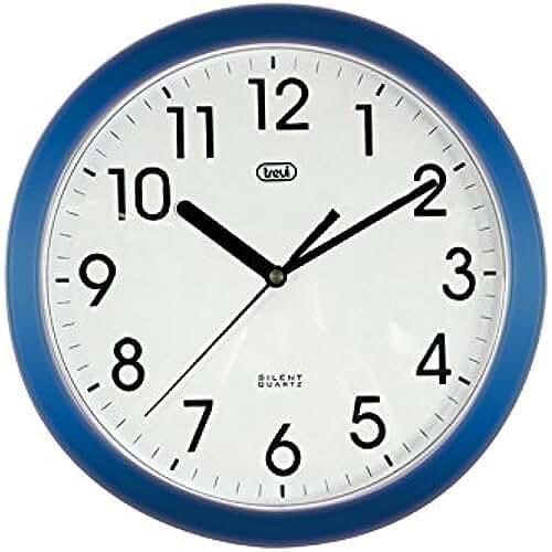 dia del orgullo friki Trevi OM 3301 - Reloj de pared silencioso de 25,5 cm de diámetro con maquinaria de cuarzo, color azul