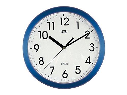 Trevi OM 3301  - Orologio da Parete - Quarzo silenzioso – 25cm – Blu