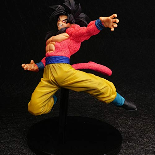 HBJP Anime Dragon Ball Modelo, PVC Estatua de colección de Juguetes for niños, Estatua de Juguete Decorativa de Escritorio Modelo de Juguete, 4 etapas Goku (20 cm)