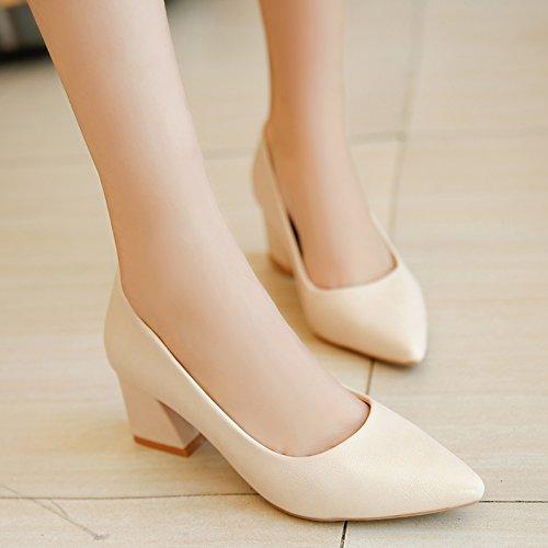 FLYRCX Professional numero di scarpa di sharp e poco profonde scarpe a tacco in autunno e in inverno: 33-41 K