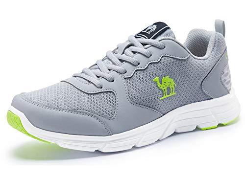CAMEL Herren Sportschuhe Laufschuhe Sneaker Atmungsaktiv Leichte Traillaufschuhe (45 EU=UK 9=Fußlänge 27.5cm, Grau)
