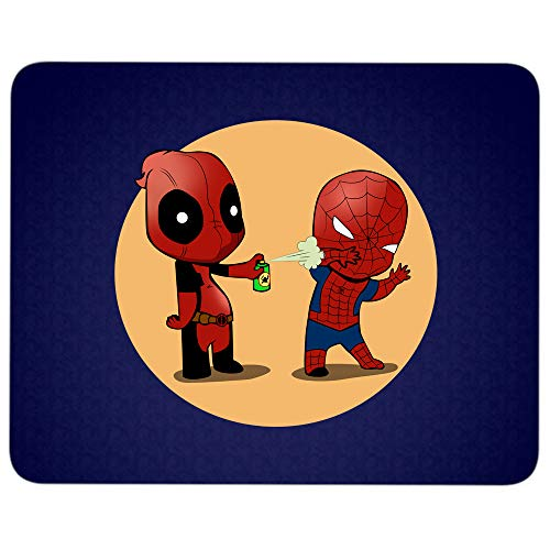 Lustiges Spiderman und Deadpool Mauspad für Schreibwarenbüro, Deadpool Spiderman Superheld, hochwertig, bequemes Mauspad 9.25