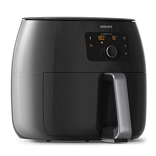 An image of the Philips Viva Collection Air Fryer XXL with Fat Removal Technology and Extra Large Size for Entire Family, 2225 W, 1.4 Liters, Black, HD9650/99