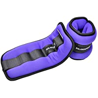 BalanceFrom GoFit Fully Adjustable Ankle Wrist Arm Leg Weights, 2.5 lbs each (5-lb pair), Purple