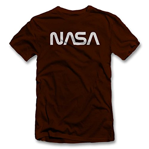 nasa-t-shirt-braun-brown-m