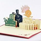 BC Worldwide Ltd handgemachte 3D-Pop-up Geburtstagskarte Tweety Vogel erste Geburtstag Kind Kind Papercraft Laser Schnitt beste Freund Vintage Cottage Party Einladung