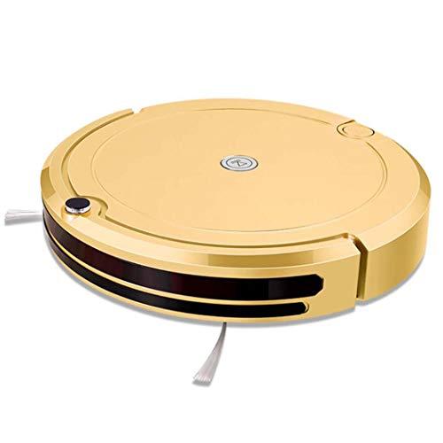 DPPAN Staubsauger Roboter Wischfunktion, Geräuscharmer Reinigungsroboter für Tierhaare, dünner Teppiche und Glattböden,Yellow