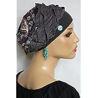 Beanie Mütze Patchwork Braun Türkis Paisley little things in life Chemo Cap Hat Chemomütze Mütze bei Krebs Kopfbedeckung Turban
