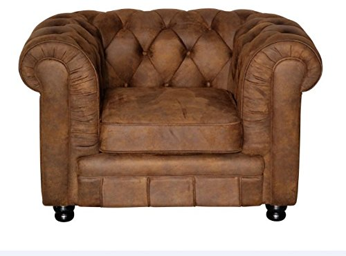 Vintage Sessel Oxford Chesterfield Sessel