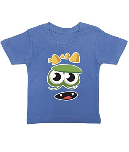 Artdiktat Baby T-Shirt | Happy Niedliche Monster Cartoon Motiv | D290 D290 | Size 0, blau