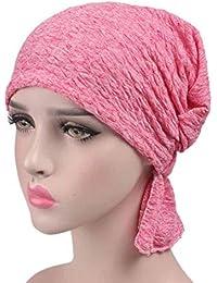 JJHR Sombreros y gorras Mujeres Chemo Sombrero Beanie Bufanda Turbante Head  Wrap Cap Algodón Gorro Gorro ee294f3363c