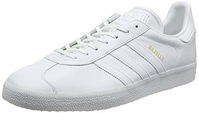 adidas Originals Men's Gazelle Running Shoes, White (White