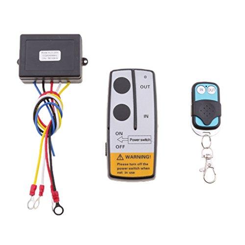 Preisvergleich Produktbild Sharplace Drahtlose Elektrische Seilwinde Motorwinde Fernbedienung Türöffner Fernsteuerung Set für Fahrzeuge