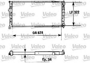 Preisvergleich Produktbild Valeo 730945 Kühler,  Motorkühlung
