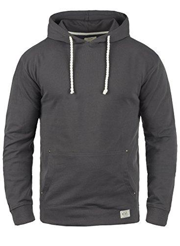 Redefined Rebel Morgan Herren Kapuzenpullover Hoodie Pullover Mit Kapuze Aus 100% Baumwolle, Größe:M, Farbe:Antracit Grey -