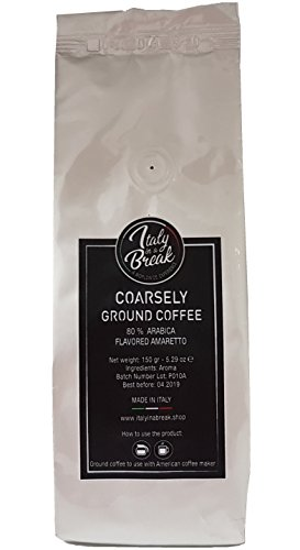 Amaretto flavoured Ground Coffee – 600 gr.- Premium Quality Coffee with the flavor of AMARETTO – 80% Arabica Made in Italy (Pack of 4) 41 Xi1AkfeL