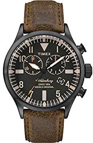 Timex Reloj Cronógrafo para Hombre de Cuarzo con Correa en Cuero TW2P64800