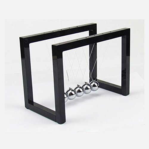JERN Newtons Cradle Steel Balance Pendulum Ball Parallel Bar Design