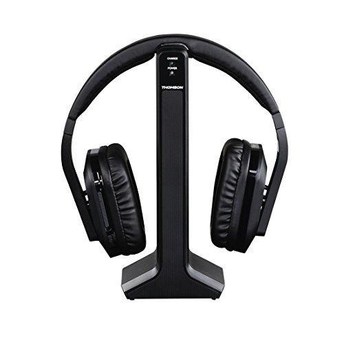 Thomson Digitaler Over-Ear Funk-Kopfhörer (z.B. für TV/HiFi/Smartphone/Tablet/PC/Laptop, mit Ladestation, kabellose Reichweite 20m) Wireless Stereo Headphones, Fernseh-Kopfhörer schwarz - 4