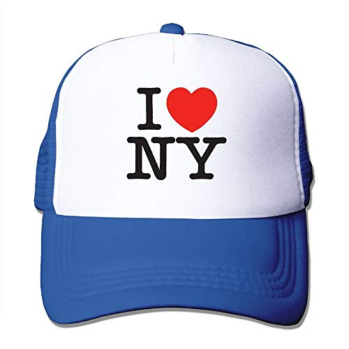 Ygoner I Love NY New York Adjustable Printing Snapback Mesh Hat Unisex Adult Baseball Mesh Cap