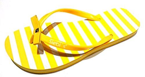 Siebi's FRESNO Restposten Zehentrenner Badeschuhe Damen Gelb