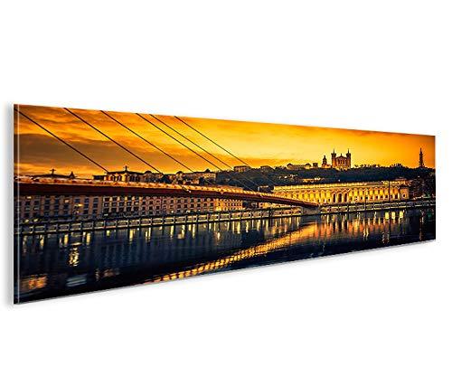 islandburner Impression sur Toile Lyon Panorama Image sur Toile - Images - Photo - Tableau - Tableaux - déco Murale