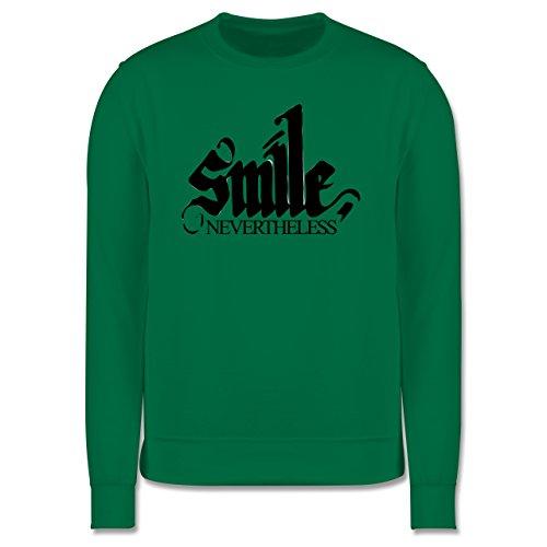 Statement Shirts - Lächle trotzdem - smile nevertheless - Herren Premium Pullover Grün