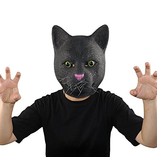 XIAO MO GU Halloween Maske latex Katze Tiermaske Kostüm (Katze Kostüm Zubehör Halloween)