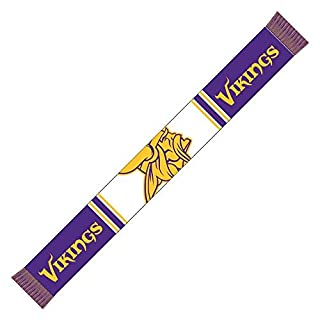 Forever Collectibles Minnesota Vikings Bar Scarf Colour Rush Purple/White - One-Size