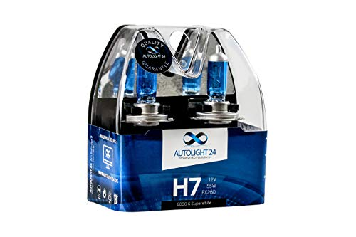 2 X H7 Autolight24 55W Abblendlicht Xenon Look Halogen Lampen 6000K H7 -