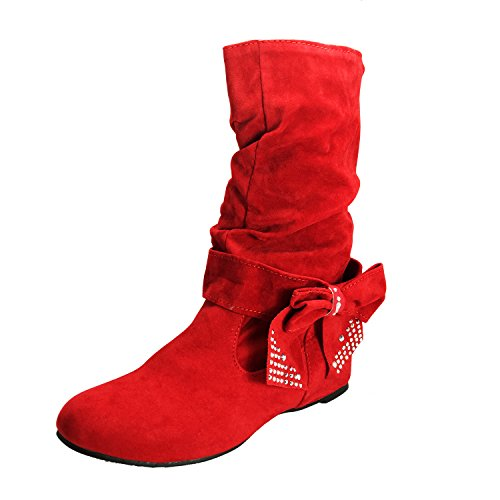 Nonbrand, Damen Stiefel & Stiefeletten Rot