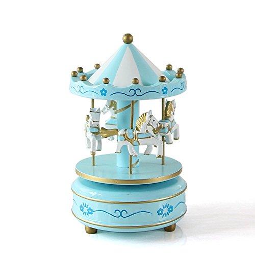 Drehkarussell Figur Musik Box Kinder Geburtstag Weihnachten Geschenke Spielzeug 1#, blau (Halloween Taschen Machen Sie Ihre Eigenen)