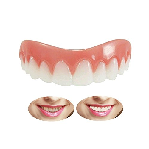 Kosmetische Zähne Sofortiges Lächeln Zähne Whitening Prothese Perfekte Smile Veneers Komfort Biegen Zähne Top Kosmetikfurnier,Natürlich Neue Bequeme Kosmetisches Zahnfurnier Für ein perfektes Lächeln, Provisorischer Zahnersatz Zahnprothese Veneer für Oberkiefer,Eine Grösse passt allen