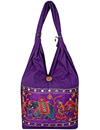 Designer And Trendy Handicraft Jhola Bag Ethnic Design Embroidery Work For Girl/women/Ladies By Shop Frenzy