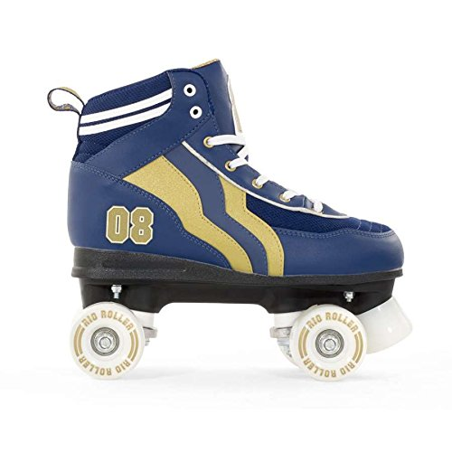 Rio Roller Varsity Childrens Quad Skates - Black/gold