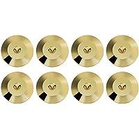 VBESTLIFE 8 Piezas 25 x 4 mm Universal de Cobre Altavoz Portátil Soporte Pies de Altavoz de Alta Fidelidad Base de Cono Picos de Almohadillas a Prueba de Golpes(Golden)