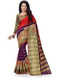 Venisa Cotton Saree With Blouse Piece (Fancy Collection-2 1003_Multicolor_Free Size)