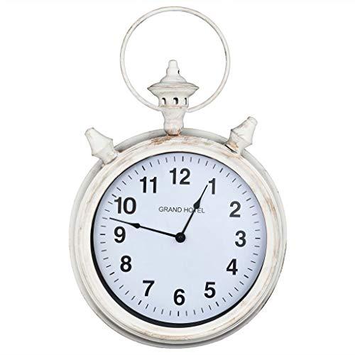 Festnight- Deko-Uhr Wanduhr Vintage-Look Dekorative Uhr Nostalgie 36 x 9 x 55 cm für den Innenbereich