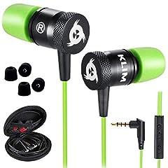 Idea Regalo - KLIM Fusion Auricolari per audio di alta qualità - Lunga durata + Garanzia 5 anni cuffiette - Innovativi: con cuscinetti in schiuma Memory Verde