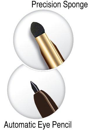 "Eveline Cosmetics * Twist Up Eyeliner Pencil with Sponge * MAX PRECISION - ""Smokey Eyes"" - BROWN"
