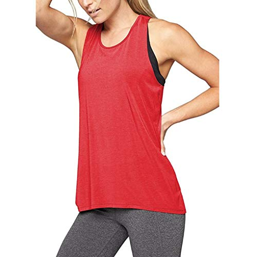 Minzhi Frauen Kreuz-Rück Yoga-Hemd Active Workout Weste Freizeit Sport Tank Top -