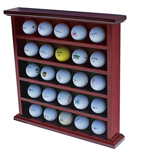 displaygifts Golf Ball Display Fall Wand Rack Schrank, Ohne Tür, GB25 (Mahagoni-Finish) -