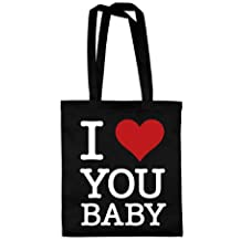 dress-puntos Baumwolltasche I Love You Baby drpt-bwt00841 42 x 38 cm