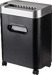 AmazonBasics Aktenvernichter, 7-8-Blatt, Partikelschnitt, mit herausziehbarem Auffangbehälter für Papier/CDs/Kreditkarten